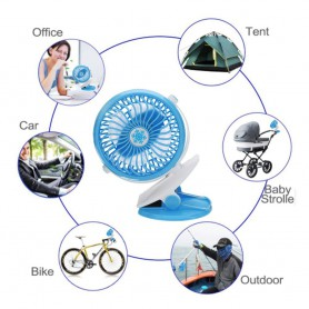 NedRo - V18 Adjustable Fan with Clip battery and charging cable - Computer gadgets - TB007-CB www.NedRo.us