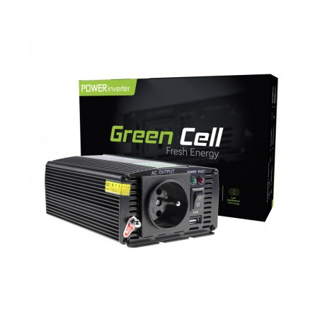 Green Cell - 600W DC 12V to AC 230V with USB Current Inverter Converter - Battery inverters - GC001