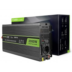 Green Cell - 4000W DC 12V to AC 230V with USB Current Inverter Converter - Battery inverters - GC009