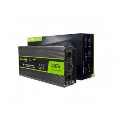 Green Cell - 6000W DC 12V to AC 230V with USB Current Inverter Converter - Pure/Full Sine Wave - Battery inverters - GC011