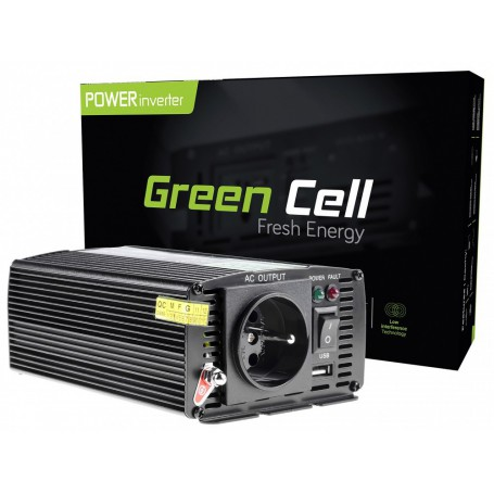 Green Cell - 600W DC 24V to AC 230V with USB Current Inverter Converter - Battery inverters - GC002