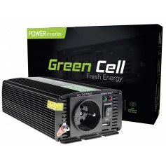 Green Cell - 1000W DC 24V to AC 230V with USB Current Inverter Converter - Battery inverters - GC004