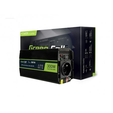 Green Cell - 600W DC 24V to AC 230V with USB Current Inverter Converter - Pure/Full Sine Wave - Battery inverters - GC010