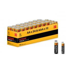 Kodak - Kodak Xtralife alkaline AA AAA 1.5V Powerbox - Size AA - BS368-CB www.NedRo.us