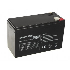 Green Cell - Green Cell 12V 7Ah (6.3mm) 7000mAh VRLA AGM Battery - Battery Lead-acid  - GC038 www.NedRo.us