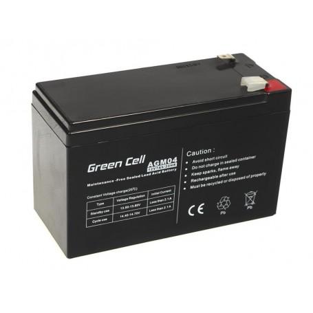 Green Cell - Green Cell 12V 7Ah (6.3mm) 7000mAh VRLA AGM Battery - Battery Lead-acid  - GC038 www.NedRo.us