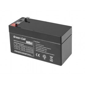 Green Cell - Green Cell 12V 1.2Ah (4.6mm) 1200mAh VRLA AGM Battery - Battery Lead-acid  - GC041