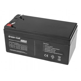 Green Cell, Green Cell 12V 3.3Ah (4.6mm) 3300mAh VRLA AGM Battery, Battery Lead-acid , GC043