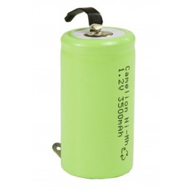 Camelion - Camelion C/LR14 3500mAh with U-solder lips 1.2V NimH Rechargeable - Size C D and XL - BS377-CB www.NedRo.us