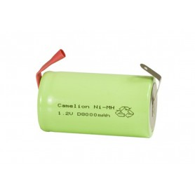 Camelion - Camelion D/LR20 8000mAh with U-solder lips 1.2V NimH Rechargeable - Size C D and XL - BS376-CB www.NedRo.us