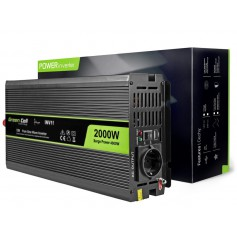 Green Cell - 4000W DC 12V to AC 230V with USB Current Inverter Converter - Pure/Full Sine Wave - Battery inverters - GC033