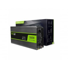 Green Cell - 6000W DC 12V to 2x AC 230V with USB Current Inverter Converter - Battery inverters - GC034
