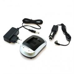 OTB - OTB Home (EU-Plug) and 12V Car charger for Nikon EN-EL11 / Olympus LI-60B / Pentax D-LI78 / Sony NP-BY1 - Nikon photo-v...