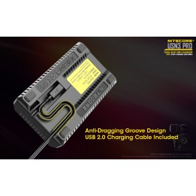 NITECORE, Nitecore USN3 Pro double USB charger for Sony Camera Battery, Sony photo-video chargers, MF007, EtronixCenter.com