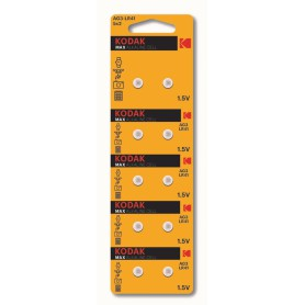 Kodak - Kodak Max Alkaline AG3 SR41W/392 1.5V Watch Battery - 10 Pieces - Button cells - BS379-CB