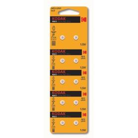 Kodak, Kodak Max Alkaline AG3 SR41W/392 1.5V Watch Battery - 10 Pieces, Button cells, BS379-CB