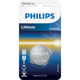 Philips CR2450 3V lithium button cell battery