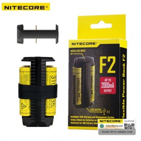 NITECORE, Nitecore F2 Dual Slots 2in1 Power Bank and battery charger, Battery chargers, MF006, EtronixCenter.com