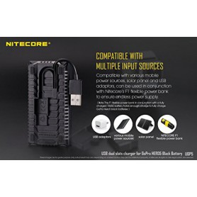 NITECORE, Nitecore UGP5 double USB charger for Hero5 Black, GoPro photo-video chargers, MF017