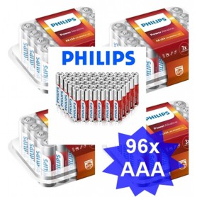 PHILIPS - 24-Pack - AAA R3 Philips Power Alkaline - Size AAA - BS017-CB www.NedRo.us