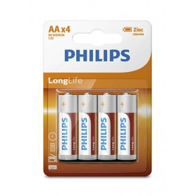 PHILIPS - AA R3 Philips Longlife Zinc Alkaline - Size AA - BS391-CB