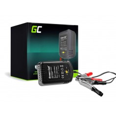 Green Cell 2V / 6V / 12V 0.6A battery charger with clip terminals