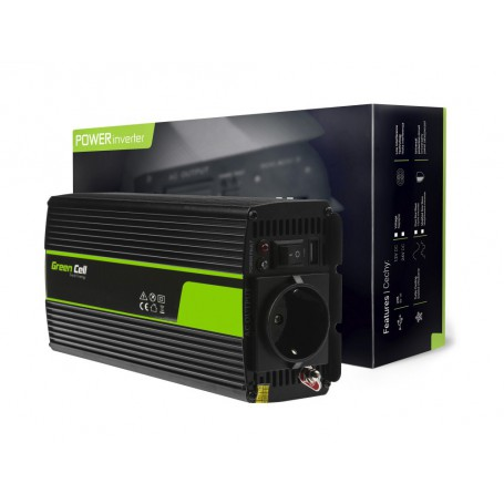 Green Cell - 1000W DC 12V to AC 230V with USB Current Inverter Converter - Battery inverters - GC065