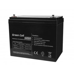 Green Cell 12V 75Ah VRLA AGM Battery with B4 Terminal