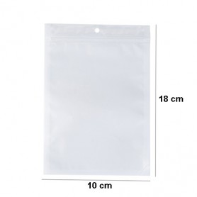 NedRo, White-clear self seal zip ziplock plastic bags with hang hole, Display and Packaging, TB009-CB, EtronixCenter.com