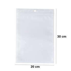 NedRo - White-clear self seal zip ziplock plastic bags with hang hole - Display and Packaging - TB009-CB