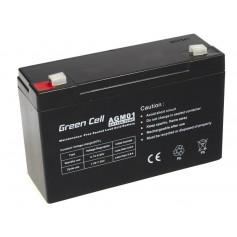 Green Cell 6V 12Ah (4.6mm) 12000mAh VRLA AGM Battery