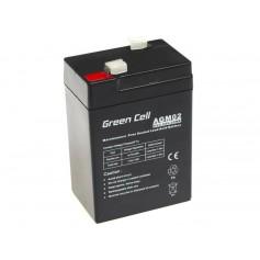 Green Cell 6V 4.5Ah (4.6mm) 4500mAh VRLA AGM Battery