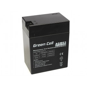 Green Cell, Green Cell 6V 14Ah (4.6mm) 14000mAh VRLA AGM Battery, Battery Lead-acid , GC051