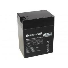 Green Cell 6V 14Ah (4.6mm) 14000mAh VRLA AGM Battery