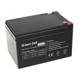 Green Cell - Green Cell 12V 12Ah (6.3mm) 12000mAh VRLA AGM Battery - Battery Lead-acid  - GC052