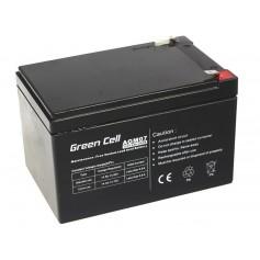 Green Cell - Green Cell 12V 12Ah (6.3mm) 12000mAh VRLA AGM Battery - Battery Lead-acid  - GC052