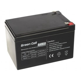 Green Cell - Green Cell 12V 14Ah (6.3mm) 14000mAh VRLA AGM Battery - Battery Lead-acid  - GC053 www.NedRo.us