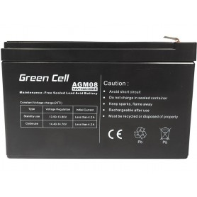 Green Cell - Green Cell 12V 14Ah (6.3mm) 14000mAh VRLA AGM Battery - Battery Lead-acid  - GC053