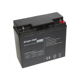 Green Cell - Green Cell 12V 18Ah (11mm) 18000mAh VRLA AGM Battery - Battery Lead-acid  - GC054 www.NedRo.us