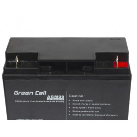 Green Cell, Green Cell 12V 18Ah (11mm) 18000mAh VRLA AGM Battery, Battery Lead-acid , GC054