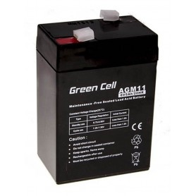 Green Cell - Green Cell 6V 5Ah (4.6mm) 5000mAh VRLA AGM Battery - Battery Lead-acid  - GC055