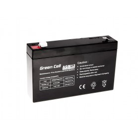 Green Cell - Green Cell 6V 7Ah (4.6mm) 7000mAh VRLA AGM Battery - Battery Lead-acid  - GC056