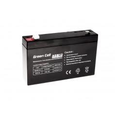 Green Cell - Green Cell 6V 7Ah (4.6mm) 7000mAh VRLA AGM Battery - Battery Lead-acid  - GC056