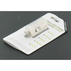 USB 2.1A Car Charger white for Smartphones and Tablets YAI475-1