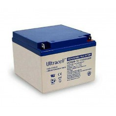 Ultracell - UltraCell UCG26-12 Deep Cycle 12V 26000mAh GEL Rechargeable Battery - Battery Lead-acid  - BS395