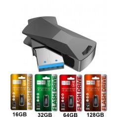 HOCO - Hoco Wisdom UD5 USB 3.0 Metal Memory Flash Disk Drive - SD and USB Memory - H100704-CB