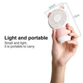 NedRo - Portable Dharma Bear Mini LED Fan with light and speed control - Computer gadgets - TB010 www.NedRo.us