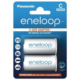 Panasonic, Panasonic Eneloop Adapter AA R6 to Baby C - 2 Pieces, Battery accessories, BS142-CB