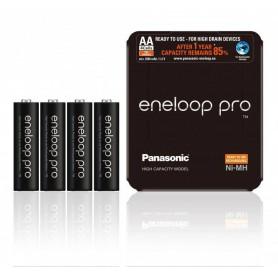 Eneloop, Panasonic eneloop PRO Sliding AA R6 2550mAh 1.2V Rechargeable Battery, Size AA, NK437-CB