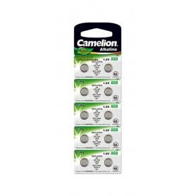Camelion, Camelion AG8 G8 LR55 391 LR1120 1.5V Alkaline button cell battery, Button cells, BS390-CB, EtronixCenter.com